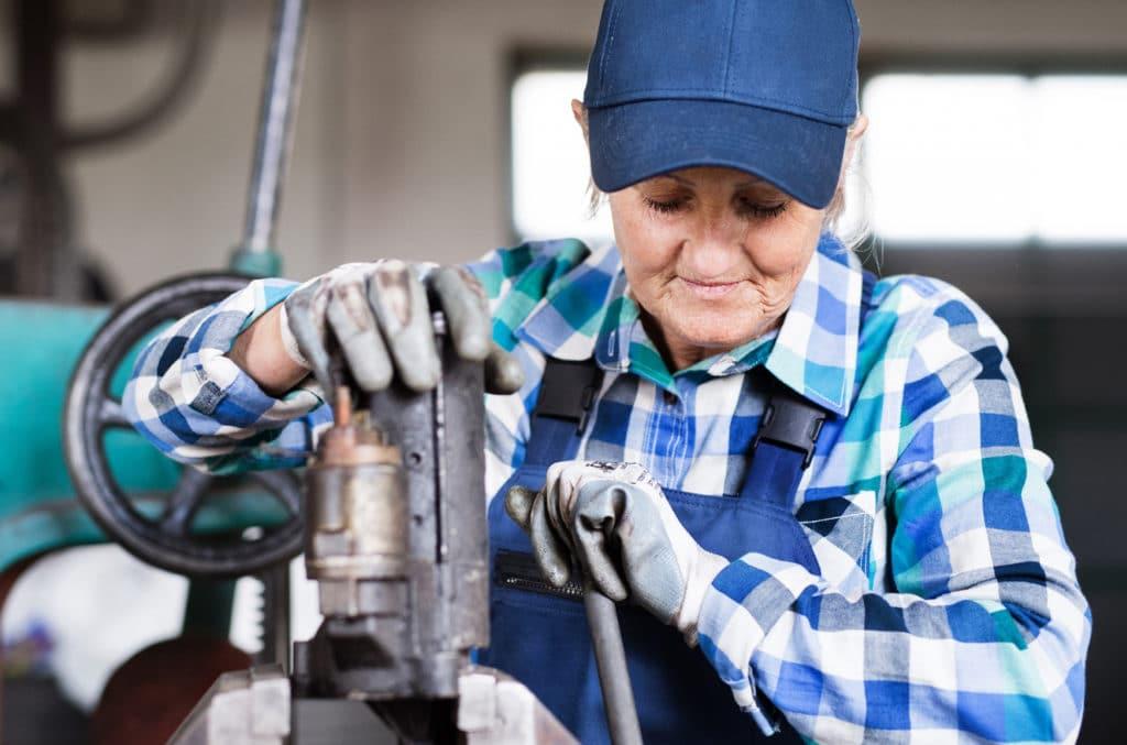 Kvinnelig mekaniker